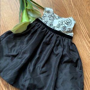 Formal black floral dress